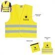 Reflective Safety Vest - Reflective vest with zippered pouch.