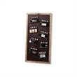 Magnet - Mini magnetic video chalkboard with movie slate chalkboard clapper.
