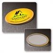 Oval Button Mirror - Oval button mirror has room for a large full color imprint.