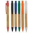Panda Pen - Panda pen with bamboo design barrel and plunger action.
