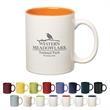 11 oz. Colored Stoneware Mug With C-Handle - Colored stoneware mug with C-shape handle, 11 oz.