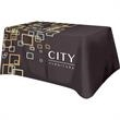 Supreme Polyester 4 Sided All Over Full Color Table Cover - Supreme quality, two-way stretch polyester table covers are washable and easy to store and ship and finished with a rolled hem.