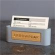 Stick & Stone Card Holder - Laser etch on bamboo imprint. Comes in retail-inspired packaging for easy gifting.