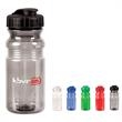 20 oz. Translucent Sport Bottle with Snap Cap - 20 oz. translucent sports bottle with leak-resistant, screw-top cap, wide-mouth design and quick-snap closure.