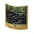"""Metal Arc - 5"""" x 5"""" x .01"""" Metal Arc Message Magnet is designed with a gently curved silver metal display."""