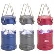 Mini Retro Lantern - Mini retro lantern with folding handles and an LED light that turns on when the top is pulled.