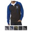 Independent Trading Company Men's Lightweight Jersey Ragl... - Men's slim fit lightweight raglan zip hoodie made of cotton/polyester jersey with an unlined hood.