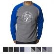 Independent Trading Company Men's Fitted Raglan Pullover ... - Men's slim fit raglan pullover crew neck sweatshirt made of cotton/polyester with split-stitch double-needle sewing throughout.