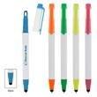 Easy View Highlighter Stylus Pen - Easy View Highlighter Stylus Pen. Twist Action. Ballpoint Pen With Black Ink. See-Through Chisel Tip Highlighter.