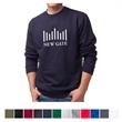 Independent Trading Company Men's Midweight Crew Neck Swe... - Men's standard fit midweight crew neck sweatshirt made of cotton/polyester with split-stitch double-needle sewing throughout.