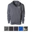 Independent Trading Company Men's Poly-Tech Zip Hooded Sw... - Water-resistant men's zip hooded sweatshirt with removable zip-off hood.