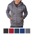 Independent Trading Company Men's Poly-Tech Zip Hooded Sw... - Men's poly-tech zip hooded sweatshirt made of polyester/cotton water-resistant fleece.