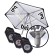 7' Solar Projection - 7' solar projection umbrella with aluminum frame, logo projection runner, removable sides, wind vent, polyester inside cover, etc.