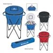 Kooler on Stand - Cooler on steel tubular stand with double zipper lid and carry bag
