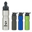 28 oz. Aluminum Sports Bottle - 28 oz. Aluminum sports bottle with screw on, spill resistant sip through lid with snap closure.
