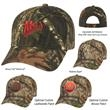 Realtree™ & Mossy Oak® Camouflage Cap - Hunter's Retreat Camouflage Cap.  60% Cotton/40% Polyester.  6 Panel, Medium Profile.  Structured Crown & Pre-Curved Visor.
