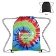 "Tie-Dye Drawstring Bag - 13"" x 17"" drawstring bag with tie-dye design that's made of polyester"