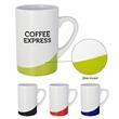 14 oz. The Curve Mug - 14 oz. mug with colored wave design at bottom .