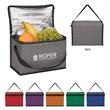 Heathered Non-Woven Cooler Lunch Bag - Heather cooler lunch bag made of 80 gram laminated non-woven, coated water-resistant polypropylene.