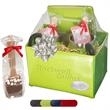 Tuscany™ Journals & Coffee Cups Gift Set - Gift set of two journals, coffee cups, and hot chocolate spoons.