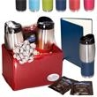 Tuscany™ Tumblers & Journal Ghirardelli® Cocoa Set - Two insulated tumblers, a journal, and two Ghirardelli® hot chocolate packets make up this gift set.