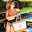 Nautical Beach Tote Bags - Features include top zipper closure, inside zipper pocket and comfortable rope handles.