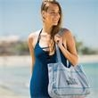 Sweatshirt Beach Tote Bags - Water resistant inner liner perfect for the beach that matches solid neon accent stitching.