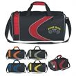 Sports Duffel Bag - Sports duffel bag with top zippered compartment and shoulder strap.