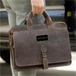 """Texas Canyon Leather Briefcase - 15 1/2"""" x 11"""" x 4"""" briefcase with two large main compartments, zippered compartments and detachable shoulder strap."""