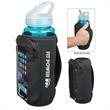 Neoprene Bottle Kooler With Phone Holder - Bottle holder/cooler with phone holder