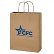 "Kraft Paper Brown Shopping Bag - 10"" x 13"" - 10"" x 13"" shopping bag made from Kraft paper."