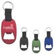 "Metal Key Tag with Bottle Opener - Metal Key Tag with Bottle Opener with Strap And Split Ring.  Approx. 1 3/8"" W x 3 3/4"" H."