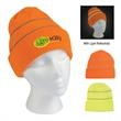 Knit Beanie with Reflective Stripes - Knit Beanie with Reflective Stripes.  100% Acrylic.  One Size Fits All.  With Cuff.  Comes in 2 Great Safety Colors!