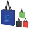 "Non-Woven Grommet Tote Bag - Non-Woven Grommet Tote Bag.  Made of 80 Gram Non-Woven, Coated Water-Resistant Polypropylene.  21"" Handles.  Spot Clean/Air Dry."