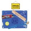 Premium Transparent School Kit - Premium school kit includes 2 round pencils, crayons and wood ruler.