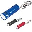 Mini Aluminum LED Flashlight With Key Clip - Mini aluminum LED light with key clip.