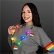 Bright Beads Rainbow Party Necklace with Medallion