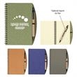 """5"""" X 7"""" Eco-Inspired Spiral Notebook & Pen - 70 Page Lined 5"""" X 7"""" Eco-Inspired Spiral Notebook & Pen with Paper Barrel, Sturdy Paper Cover and elastic pen loop."""
