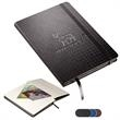 Tuscany™ Textured Journal - Writing journal with textured faux leather cover and elastic loop closure.