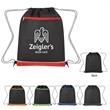 Non-Woven Bandura Drawstring Bag - Drawstring bag made from 80-gram laminated non-woven, coated water-resistant polypropylene