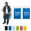 Disposable Rain Poncho - Disposable rain poncho with hood and compact pouch with snap closure.