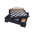 7 In 1 Black Leatherette Game Set - 7 In 1 Black Leatherette Game Set.