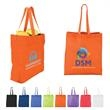 """Heat Sealed Non-Woven Value Tote with Gusset - Heat sealed non-woven tote with gusset and 20""""l handles."""