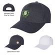 Brentwood Structured Cap - Baseball cap with structured crown, pre-curved visor, five panels, medium profile and adjustable plastic snap tab closure.