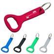 """Aluminum Bottle Opener Key Ring - Aluminum Bottle Opener Key Ring.  Approx. Size:  1 1/2"""" W x 4"""" H."""