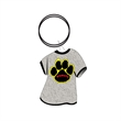 "Key Chain - Paw Print T-Shirt Key Chain. 3/16"" thick. Hard flat acrylic. 4 Sq. In."