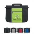 Metro Document Bag - Polyester document bag with carrying handle and front zippered pocket.