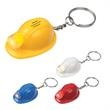 Hard Hat LED Key Chain - Hard hat LED key chain, batteries included, inserted.