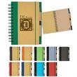 """Eco-Inspired 5"""" x 7"""" Spiral Notebook & Pen - Spiral notebook and pen with elastic pen loop and elastic band closure."""