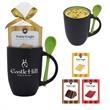 12 Oz. Spooner Mug With Mug Cake - 12 oz. mug with spoon in the handle and mug cake mix with instructions
